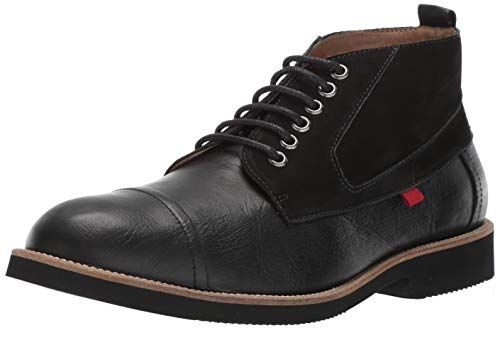 MARC JOSEPH NEW YORK Mens Leather Made in Brazil Williamsburg Boot Sneaker, Black Buffalo Grainy/Suede, 11 D(M) US