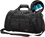 Gym Duffle Bag, 38L Waterproof Large Sports Bags, Travel Gym Bags Compartment Weekender Overnight Bag for Wome