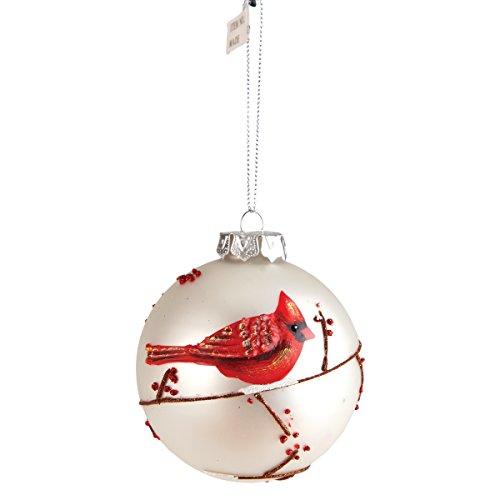 Cardinal Red Bird Glass Ball Christmas Ornament