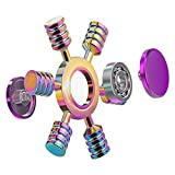ATESSON Fidget Spinner Toy 2 to 5 Min Spins Durable Stainless Steel Bearing High Speed Metal Material Hand Spinner Stress Relief Boredom Killing Time Toys