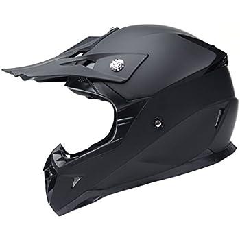 Motorcycle Motocross ATV Helmet DOT Certified - YEMA YM-915 Motorbike Moped Full Face Off Road Crash Cross Downhill DH Four Wheeler MX Quad Dirt Bike Helmet for Adult Men Women - Matte Black,Medium