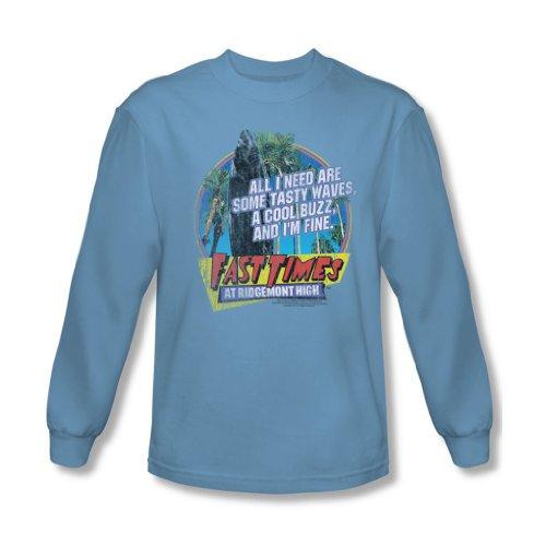 Trevco Long Sleeve Fast Times At Ridgemont High Tasty Waves Longsleeve Shirt Size L (Tasty Waves)
