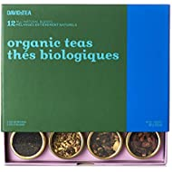 DAVIDsTEA Organic Tea Sampler, Loose Leaf Tea Gift Set, Perfect Host Gift, 12 Herbal Teas, 107 Grams / 3.8 Ounces