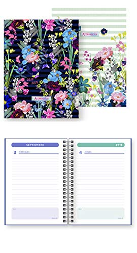 AGENDA ESCOLAR ESP. A6 DP 18-19 ACCESSORIZE NEGRA: Amazon.es ...