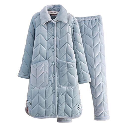 Xl162 Domicilio Pijamas Invierno 162cm 168cm 65kg A Simple Gruesas Modelos 30 50kg Solapas Túnica Servicio Sección De E Femeninos Otoño Pajamasx Larga 58 M150 Traje C1xdqaC