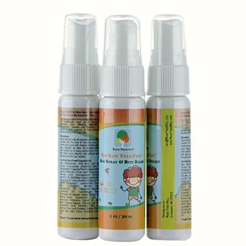 3-Pack, Kid-Safe ToxicFree Bug Spray and Bite Relief. Repels Mosquitoes Without Harsh Chemicals. Uses Only All Natural Ingredients and Essential Oils.