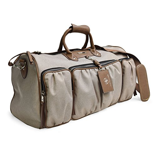 Adrienne Vittadini Two-Tone Nylon Collection Backpack Duffel and Tote Set (Duffel, Natural) Adrienne Vittadini Collection