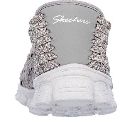 Skechers Women's EZ Flex 2 Pedestal Woven Slip On,Gray,US 5 M