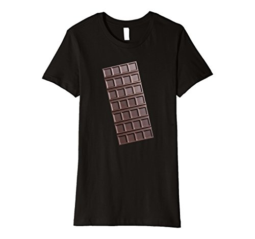 Womens Smores Chocolate Bar Matching Halloween Costume Shirt Small Black