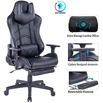 Amazon.com: HEALGEN Silla reclinable para videojuegos con ...