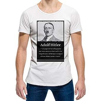 Adolf Hitler White Round Neck T-Shirt For Unisex