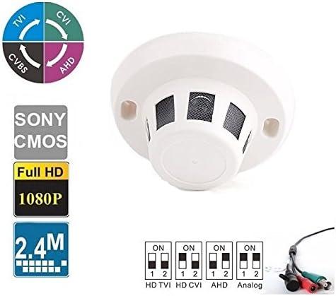 2.4MP 4-in-1 (TVI/AHD/CVI/960H) Outdoor SONY Sensor Turbo HD Spy Hidden Camera 2.8mm Wide Angle Lens 1080P, Smoke Detector Type 41Ksb6Qi17L