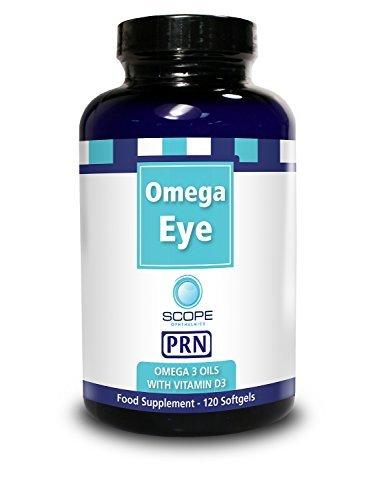 Omega Advantage - Omega Eye PRN - Omega 3 Oil with Vitamin D3 Nutritional Supplement (120 Softgels)