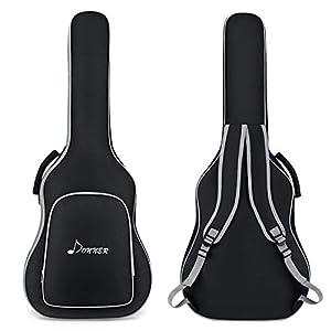 Donner Gitarrentasche Akustikgitarre Gigbag 3mm gepolstert wasserdicht Gitarre Rucksack Gitarrenhülle für 40/41 Zoll Akustikgitarre, Schwarz