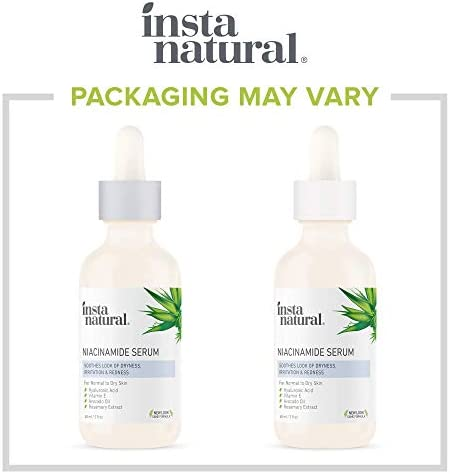 InstaNatural Niacinamide 5% Face Serum - Vitamin B3 Anti Aging Skin Moisturizer - Diminishes Breakouts, Wrinkles, Lines, Age Spots, Hyperpigmentation, Dark Spot Remover for Face - 2 oz.