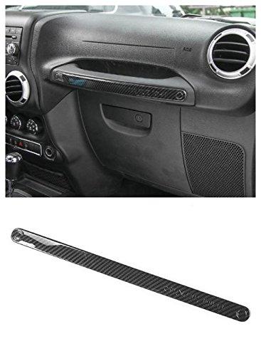 Niceautoitem 9Colors Car Interior Decoration Door Copilot Handle Cover Plate Trim Stickers ABS Fit For Jeep Wrangler 2011-2017 (Carbon Fiber)