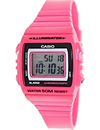 Casio Women's Classic W215H-4AV Pink Plastic Quartz Watch with Digital Dial