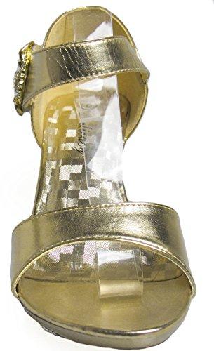 lety delicacy nbsp;Negro Zapato Fiesta Womens 81 Dorado T6wAxz8