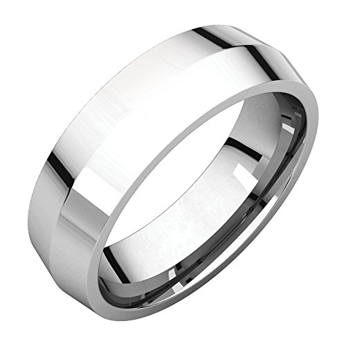 Wedding Bands, Platinum 6mm Knife Edge Comfort Fit Band