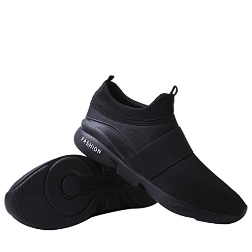 Sportive Scarpe da Nero Tela Scarpe Unisex da Traspiranti Scarpe di Scarpe da Uomo Sneakers Scarpe Imbottite Uomo Allacciare Challenge Basse Ginnastica tqw6COx