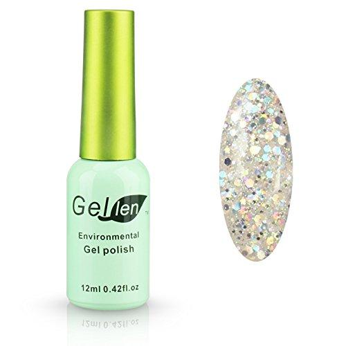 Gellen LED Gel Polish Color Gels 1pc 12ml Glitter Series Shi