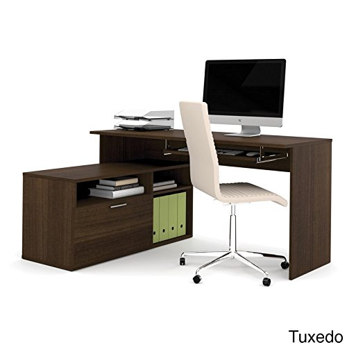 Bestar Office Space Corner - Bestar Modula L-Shape Workstation Desk in Tuxedo