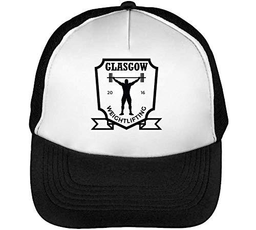 Snapback Weightlifting Negro Gorras Badge Beisbol Blanco Sport Glasgow Hombre pUznZx