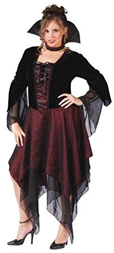 Womens Dracula Costumes (Lady Dracula Costume - Plus Size 1X/2X - Dress Size 16-22)