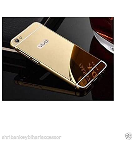 new product 1d930 b0170 Vivo Y55L Mirror Back Covers RK RETAILER - Golden
