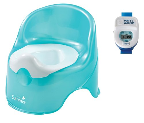 Summer Infant Lil' Loo Toddler Potty with Blue Potty Watch Toilet Trainer