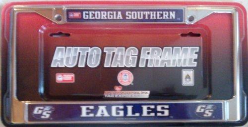 Georgia Southern Eagles LBL Metal Chrome License Plate Tag Frame University Of