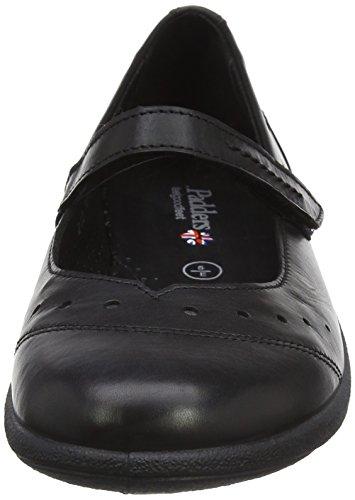 Padders Femmes Rowyn Cuir Bar Ballerine Chaussure (h212 / 10) Noir
