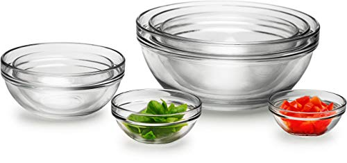- Circleware Basic Huge Set of 7, Nested Glass Serving Mixing Bowls Set for Fruits, Salad, Dessert and all Food - 4