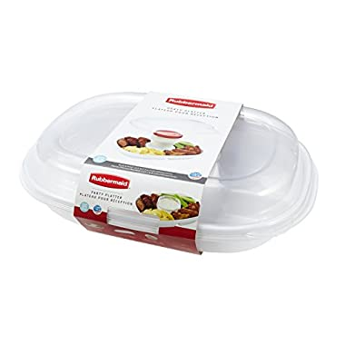 Rubbermaid Party Platter Party Tray, Clear