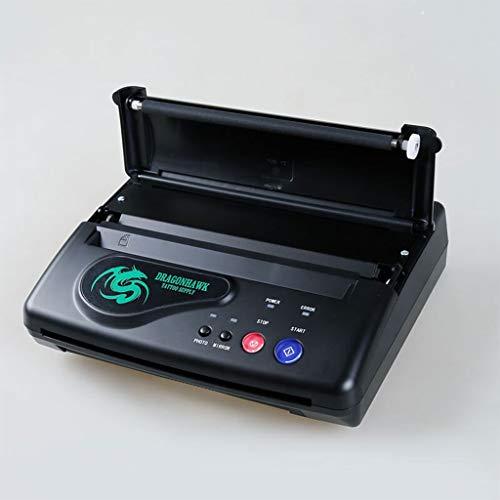 Tattoo Kit Thermal Stencil Transfer Copier Impresora De Papel, para La Actualización Temporal Y Permanente De Tatuajes Version (Negro): Amazon.es: Hogar