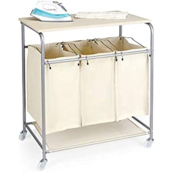 Amazon Com Honey Can Do Rolling Laundry Sorter With