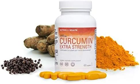 Curcumin Extra Strength High Quality C3 Complex 1000mg 60 Caplets with Highly Absorbable Turmeric Curcumin and BioPerine Joint Pain Relief. Anti Inflammatory 2 Year Shelf Life