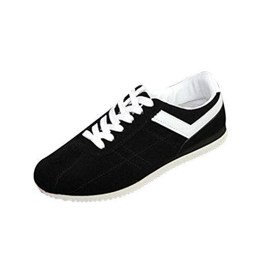 Hot Sale! Men's Sport Shoes, Among Spring/Autumn Casual Striped Shoes Fashion Low Ankle Lace-up Flat Heel Sneakers