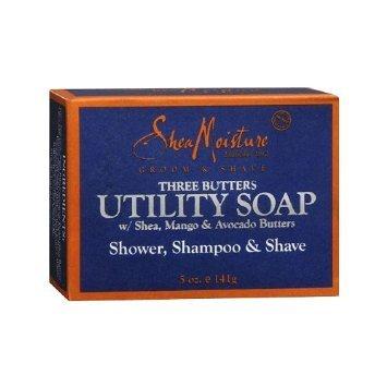 Shea Moisture Mens Utility Soap 5 Ounces (4 Pack)