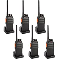 Radioddity R2 400-470MHz. Two Way Radio with 16 Channels ,96 Hours Super Long Standby VOX Scrambler,1200Ma Li-ion Battery Granular Sensation Walkie Talkie (Pack of 6)