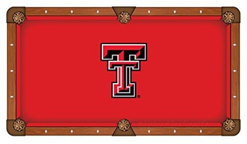 (Holland Bar Stool Co. Texas Tech Red Raiders Red Billiard Pool Table Cloth (7'))