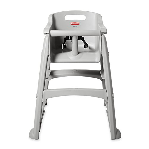 Rubbermaid Commercial Sturdy Chair Youth Seat High Chair with Wheels, Platinum, ()
