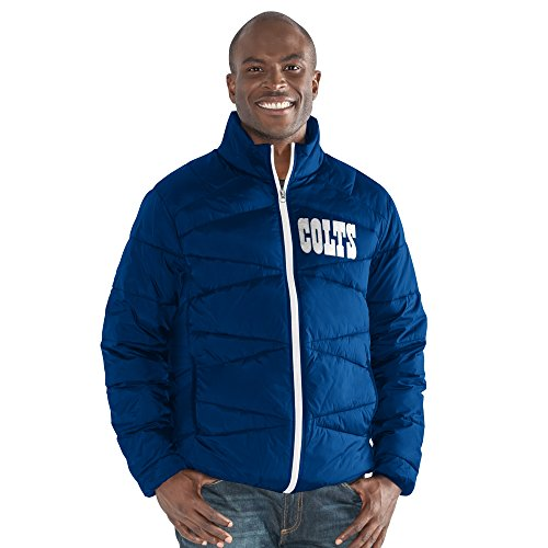 G-III Sports NFL Indianapolis Colts The Blitz Full Zip Packable Jacket, Medium, (Indianapolis Colts Jacket)