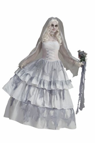 [Forum Novelties Women's Deluxe Victorian Ghost Bride Costume, Multi, One Size] (Adult Ghost Groom Costumes)