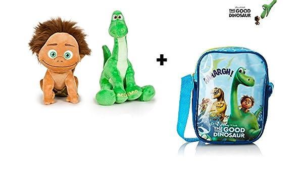 Disney El Viaje de Arlo - Pack Bandolera 20cm + Peluches Spot (Niño) 15cm & Arlo 19cm: Amazon.es: Juguetes y juegos