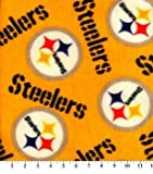 """Pittsburg Steelers"" yellow Fleece Handcrafted Blanket with FREE Matching Pillowcase"