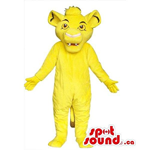 Well-Known Flashy Yellow Lion King Movie Character Mascot SpotSound US