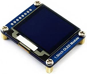 Waveshare 1.5inch OLED Display Module 128x128 16 Gray Scale SPI//I2C Interface SSD1327 Driver Raspberry Pi//Arduino//STM32 Examples Provided