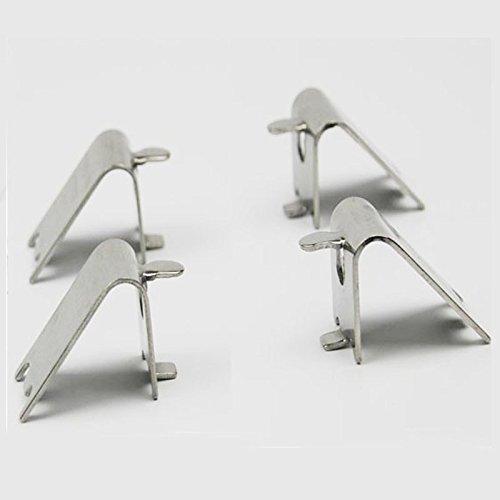 Freezer refrigerator shelf shelves snap buttons shelf support bracket hook buckle aluminum laminate-type folder plastic hooks for DIY Art Sewing Sew Tailor Clothing Craft ()