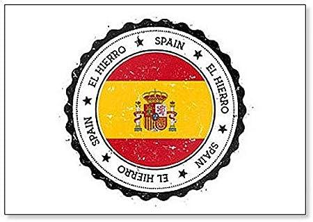 Insignia de El Hierro de España – Imán clásico para nevera: Amazon.es: Hogar